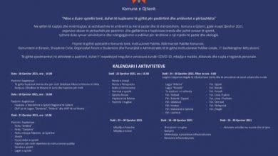 Photo of Kalendari i Aktiviteteve i Komunës së Gjilanit